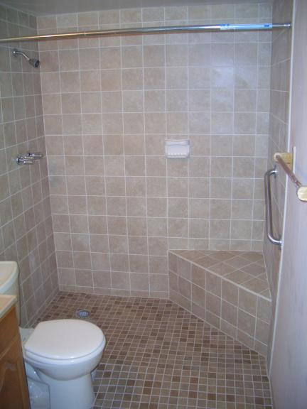 Wheelchair accessible bathrooms for Bathroom designs elderly