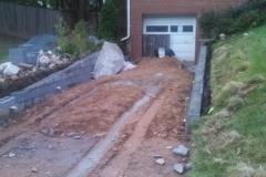 Driveway and Brick Retaining Walls Silver Spring Maryland