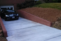 Driveway and Retaining Walls Silver Spring Maryland
