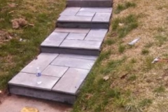 Slate Walkway, Steps, & Wrought Iron Railing in Silver Spring Maryland