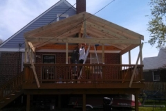 Roof Constucted over existing deck in Rosedale Maryland