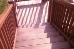 Deck with Fire Pit Color Trex Maryland