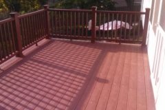 Deck with Fire Pit Color Trex Flooring & Railing in Potomac Maryland