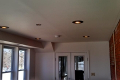 Home Addition with Recess Lighting & French door